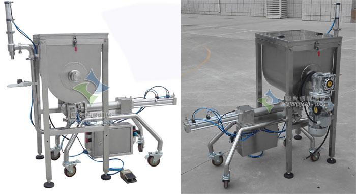 牛肉酱灌装机-卧式单头颗粒酱料灌装机