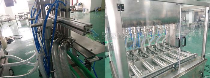 豆辨酱灌装机-6头卧式搅拌酱料灌装机